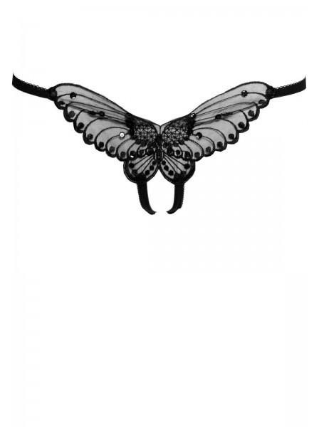 Perizoma aperto a forma di farfalla in sei colori Leg Avenue in vendita su Tangamania Online