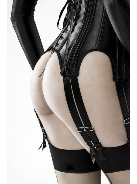 Set tre pezzi con corpetto in raso Grey Velvet in vendita su Tangamania Online