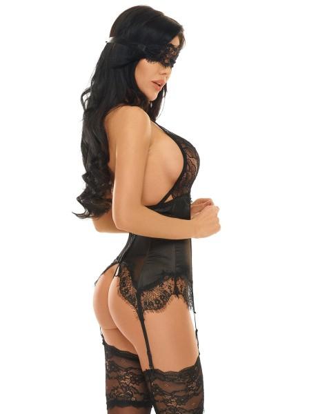 Eve corsetto e perizoma con maschera BeautyNight in vendita su Tangamania Online