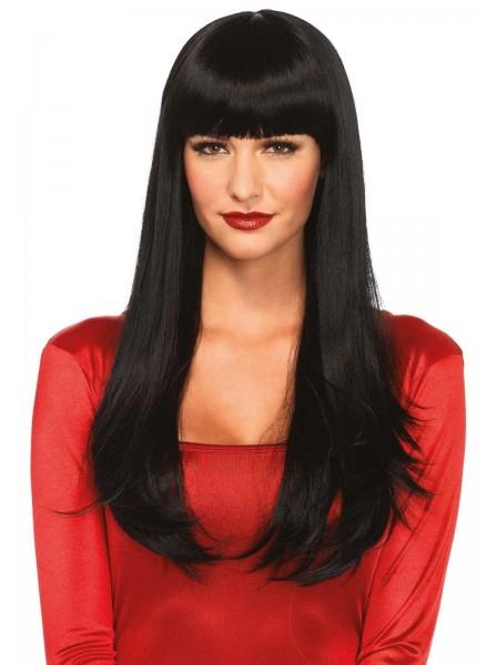 Sexy parrucca mora lunga con caschetto Leg Avenue in vendita su Tangamania Online