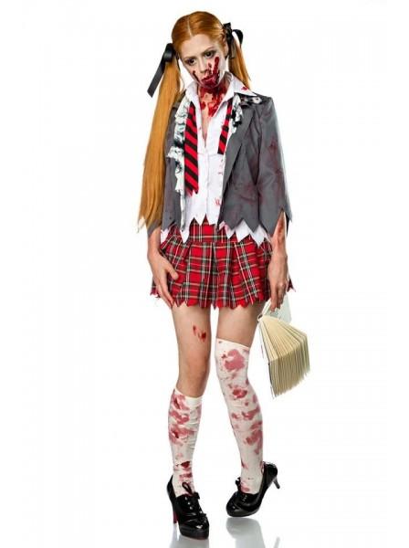 Zombie Schoolgirl costume per Halloween con accessori Mask Paradise in vendita su Tangamania Online