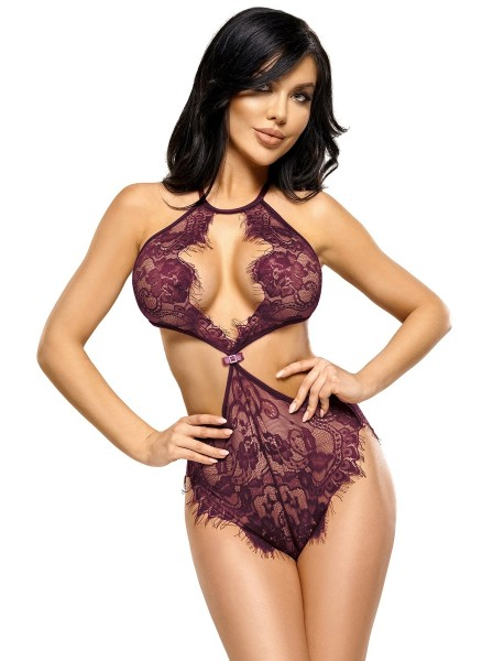 Jordana body a perizoma in pizzo viola BeautyNight in vendita su Tangamania Online