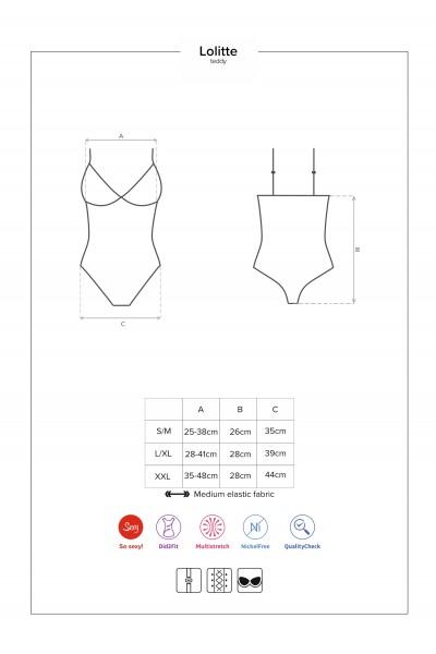 Lolitte body con coppe imbottite Obsessive Lingerie in vendita su Tangamania Online