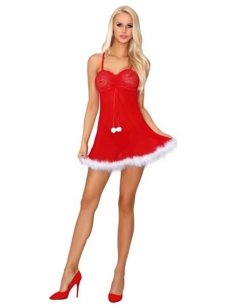 Sexy babydoll rosso per Natale con perizoma Livia Corsetti in vendita su Tangamania Online