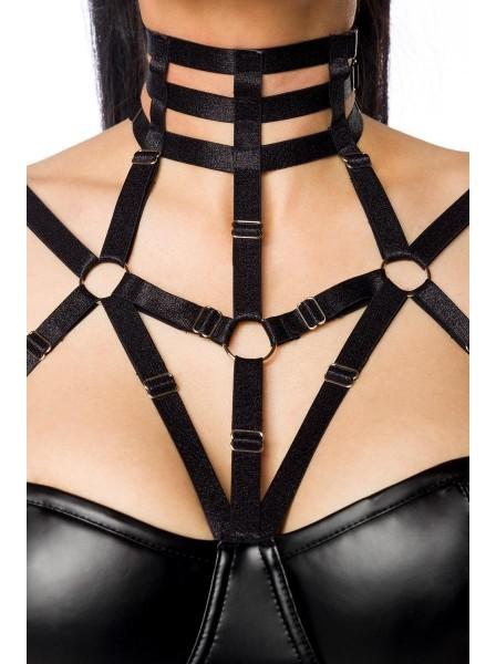 Sexy set a stringhe con top e minigonna wetlook Saresia in vendita su Tangamania Online