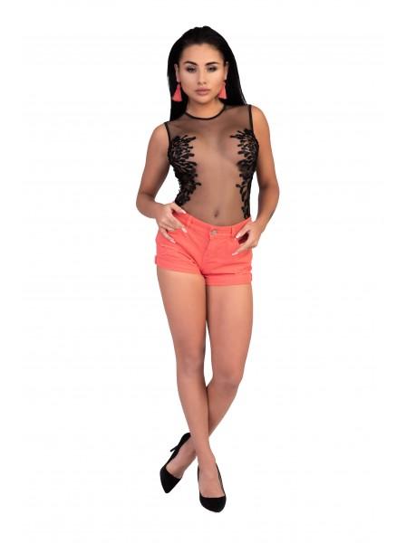 Kiraven body in tulle con decorazioni in pizzo Livia Corsetti in vendita su Tangamania Online