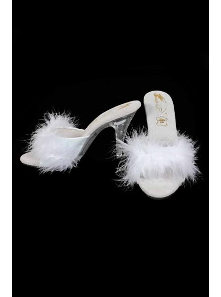 Sexy ciabattine da camera con piume ALTRI BRAND in vendita su Tangamania Online