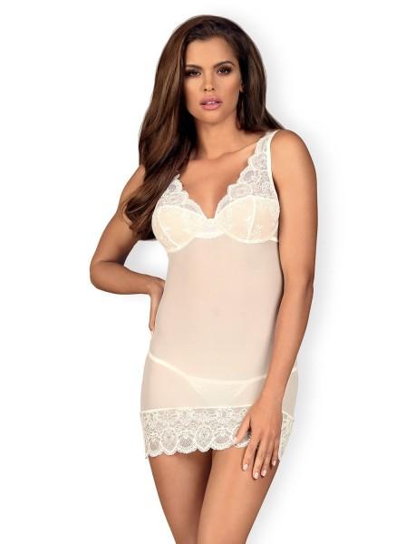 853 chemise e perizoma bianca Obsessive Lingerie in vendita su Tangamania Online
