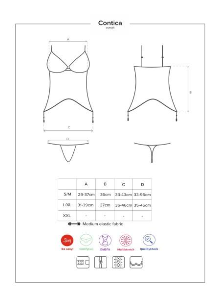 Contica corsetto e mutandine coordinate Obsessive Lingerie in vendita su Tangamania Online