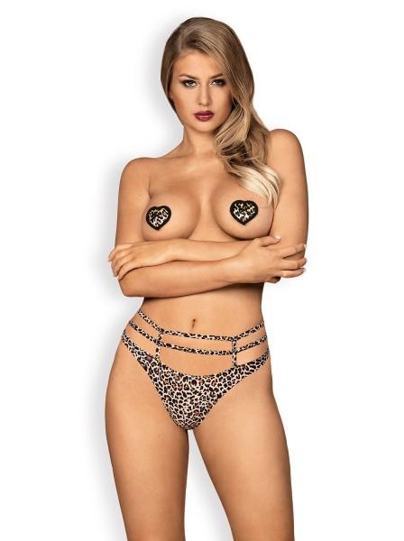 Selvy copricapezzoli leopardati a forma di cuore Obsessive Lingerie in vendita su Tangamania Online
