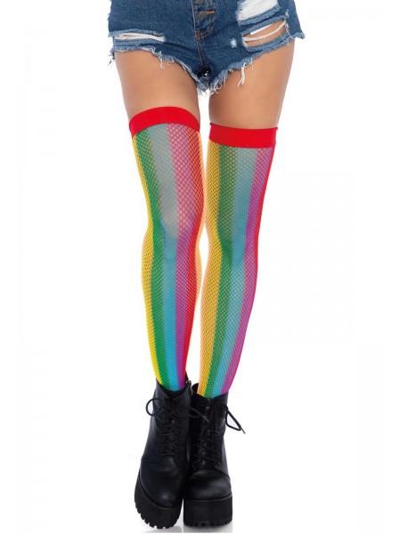 Calze autoreggenti a rete arcobaleno Leg Avenue in vendita su Tangamania Online