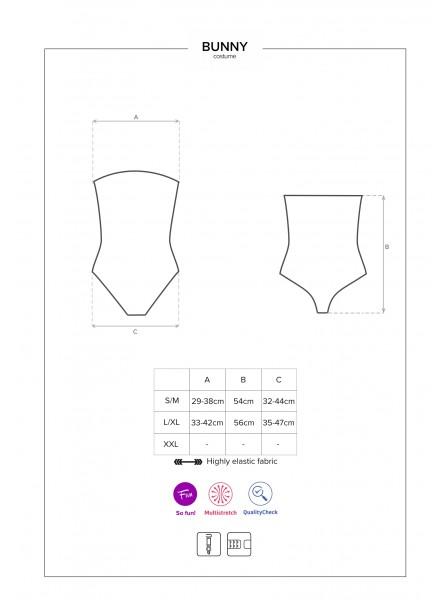 Bunny body costume con accessori Obsessive Lingerie in vendita su Tangamania Online