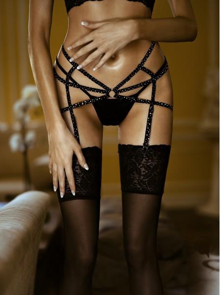 Reggicalze a tripla stringa con strass Leg Avenue in vendita su Tangamania Online