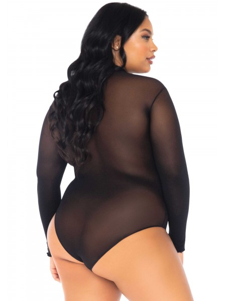 Body a collo alto e maniche lunghe PLUS SIZE Leg Avenue in vendita su Tangamania Online