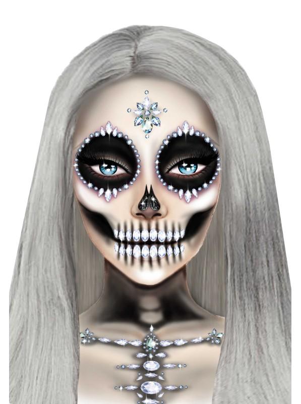 Skeleton Face gioiello adesivo per il viso Leg Avenue in vendita su Tangamania Online
