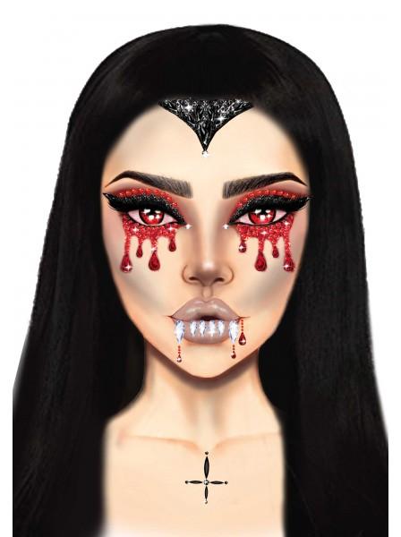 Vampire Face gioiello adesivo per il viso Leg Avenue in vendita su Tangamania Online