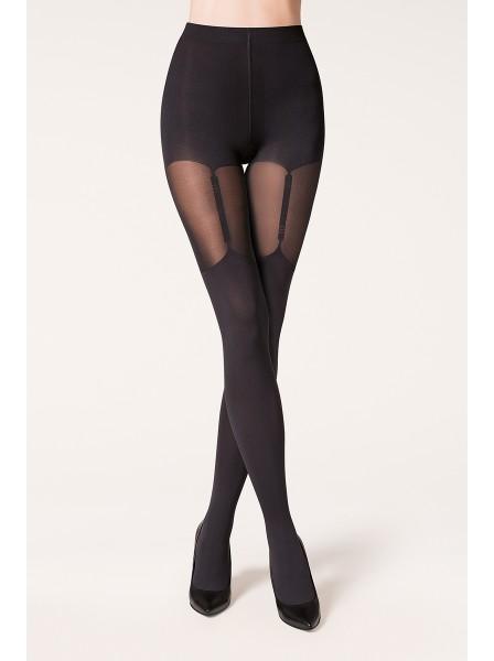Valery collant con disegno calze da reggicalze Gabriella in vendita su Tangamania Online