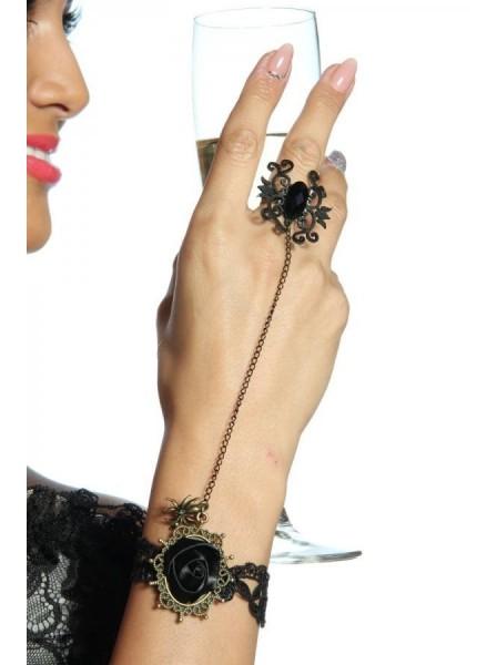 Braccialetto gotico con anello ALTRI BRAND in vendita su Tangamania Online