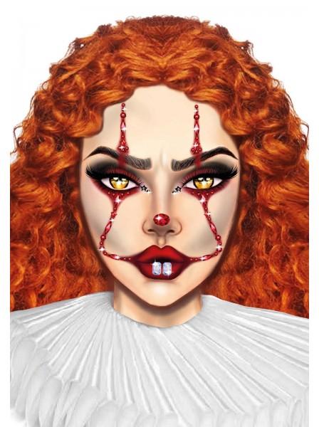 Clown Face gioiello adesivo per il viso Leg Avenue in vendita su Tangamania Online