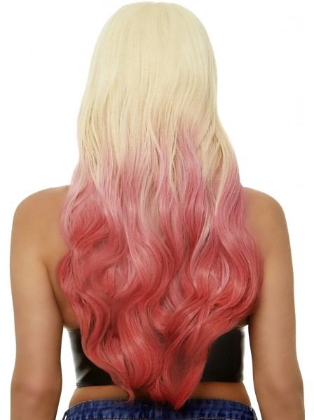 Parrucca lunga mossa bionda e rosa Leg Avenue in vendita su Tangamania Online
