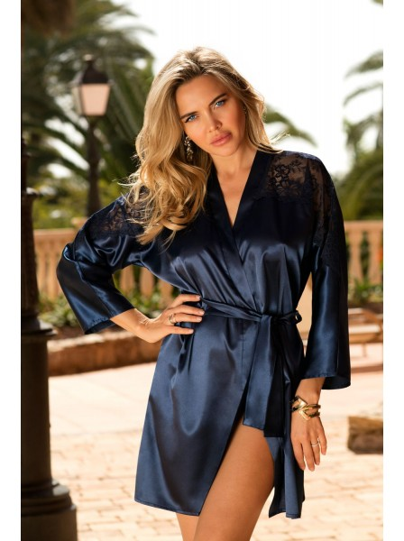 Alexandra Elegante vestaglia colore Blu Navy  DKaren in vendita su Tangamania Online