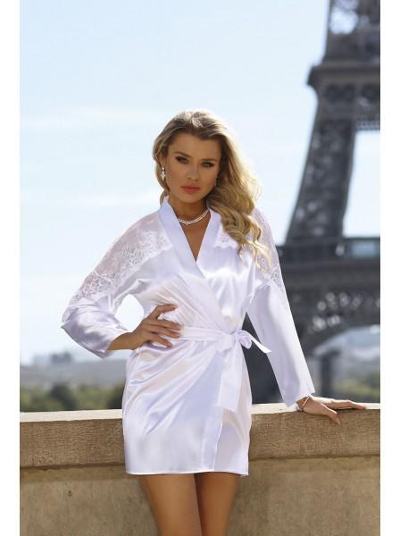 Alexandra Elegante vestaglia in raso Bianca DKaren in vendita su Tangamania Online