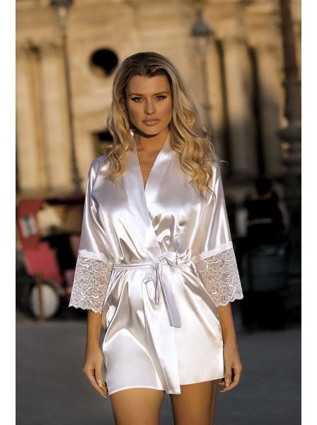 Judyta Elegante vestaglia donna in delicato raso e pizzo DKaren in vendita su Tangamania Online