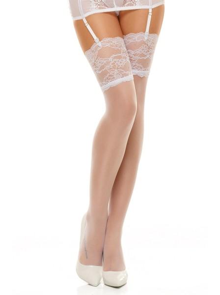 Romance calze da reggicalze 20 denari bianche BeautyNight in vendita su Tangamania Online