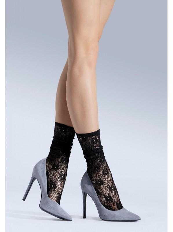 Calzini glamour 06 in pizzo floreale NOQ Calze e Collant in vendita su Tangamania Online