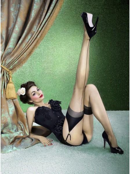 Marlene Calze per reggicalze in nylon con riga e tallone in due colori NOQ Calze e Collant in vendita su Tangamania Online