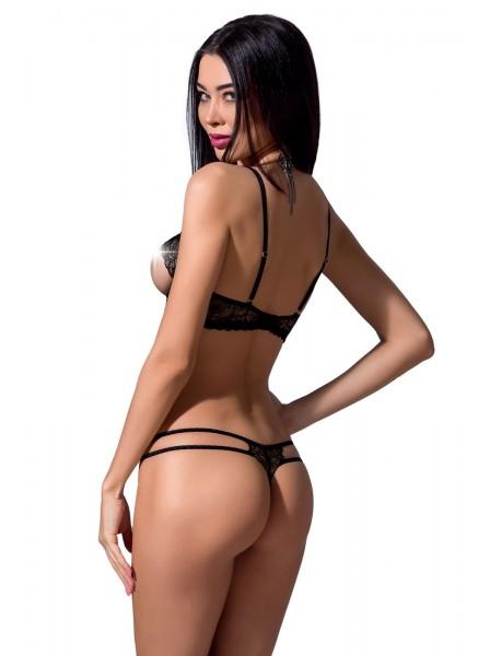 Esmeralda completino con reggiseno e perizoma aperto Passion in vendita su Tangamania Online