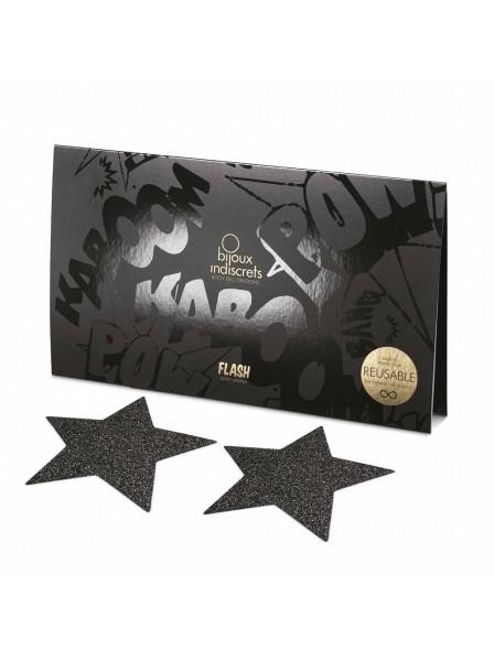 Copricapezzoli glitterati a forma di stella in tre colori Bijoux Indiscrets in vendita su Tangamania Online