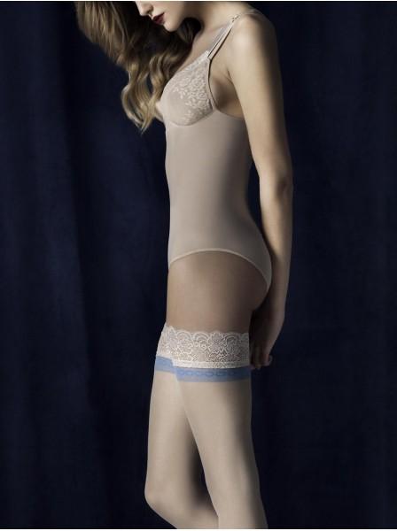 Calze autoreggenti 20 denari con banda blu modello Innocent Fiore in vendita su Tangamania Online