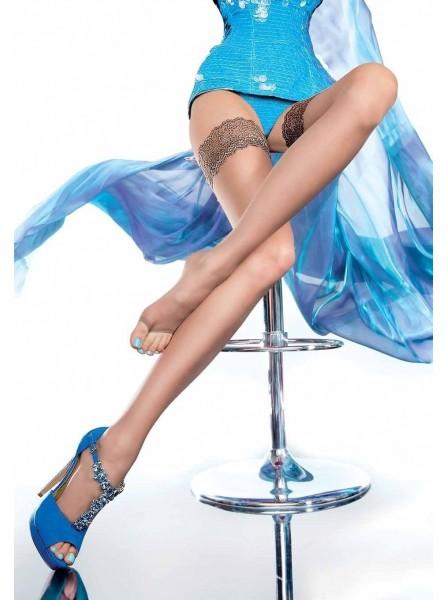 Calze autoreggenti modello Eluxa in tre colori Fiore in vendita su Tangamania Online