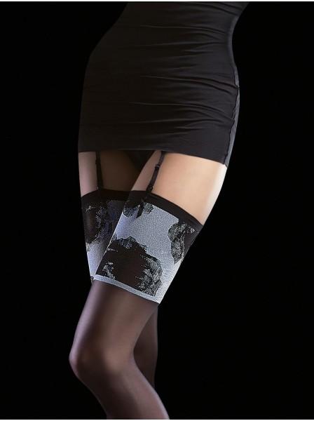 Calze da reggicalze 20 denari modello Nicolette Fiore in vendita su Tangamania Online