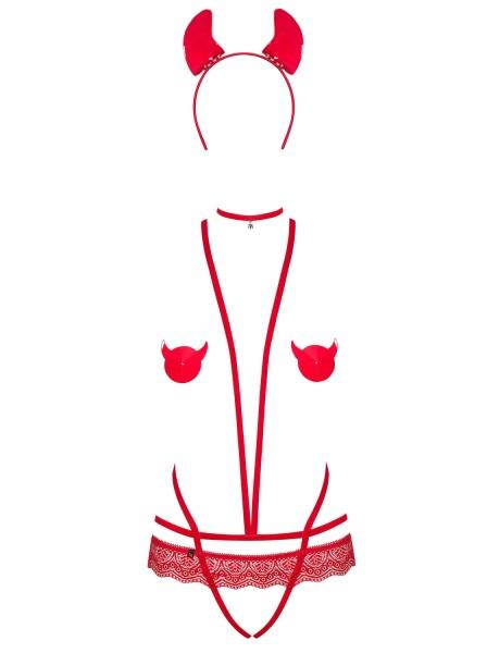 Evilia costume da diavoletta con accessori Obsessive Lingerie in vendita su Tangamania Online