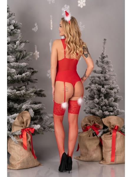 Limpid Snowflakes sexy body natalizio con calze Livia Corsetti in vendita su Tangamania Online