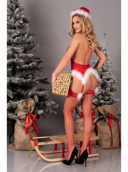 Costume natalizio Corsetto con cappello e calze Alimena Livia Corsetti in vendita su Tangamania Online