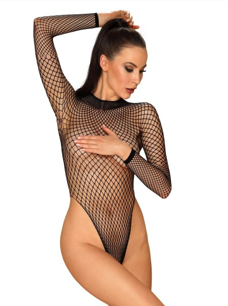 B125 body a rete con maniche lunghe Obsessive Lingerie in vendita su Tangamania Online