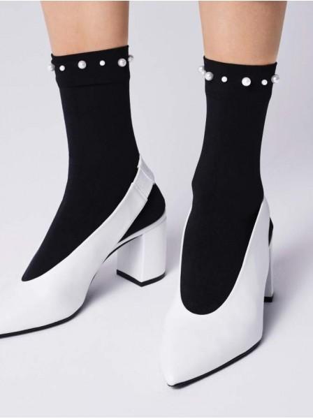 Calzini 60 denari con perle sulla caviglia Fiore in vendita su Tangamania Online