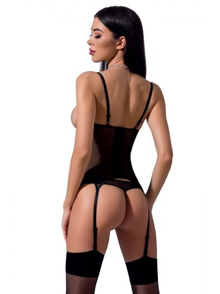 Sexy corsetto Heidi con apertura sul seno e perizoma Passion in vendita su Tangamania Online