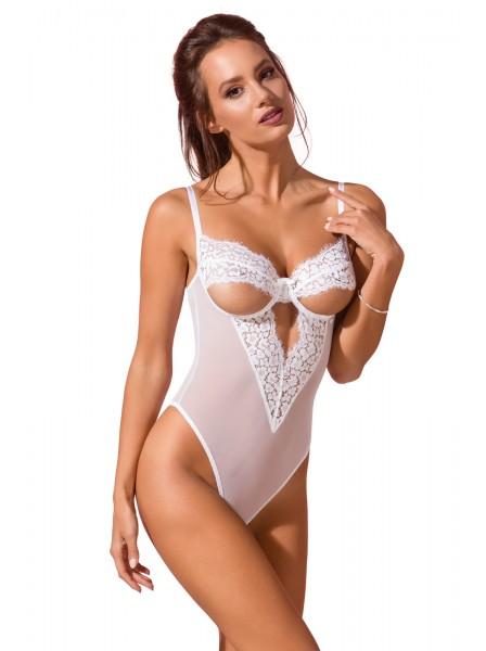 Sexy body bianco con coppe aperte Avanua Lingerie in vendita su Tangamania Online