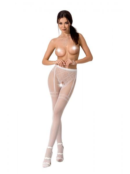 Sexy collant ricamati aperti al cavallo S012 Passion in vendita su Tangamania Online