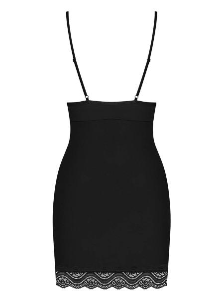 Elegante Chemise nera con perizoma in coordinato Diyosa Obsessive Lingerie in vendita su Tangamania Online