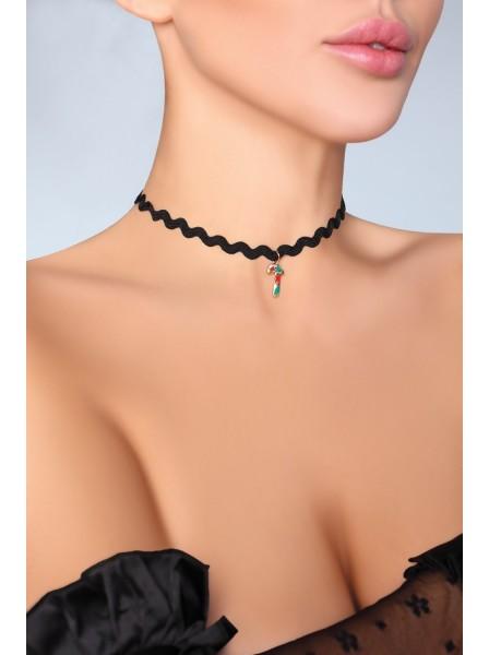 Choker 38441 girocollo in tessuto con pendente natalizio Livia Corsetti in vendita su Tangamania Online