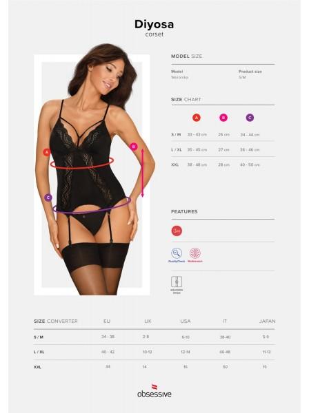 Sexy Corsetto intimo con perizoma collezione Diyosa Obsessive Lingerie in vendita su Tangamania Online
