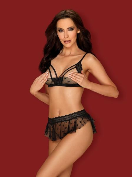 Heartia sexy Completino mezza coppa con perizoma aperto Obsessive Lingerie in vendita su Tangamania Online