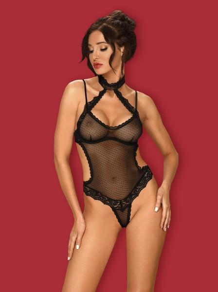 Sexy body a perizoma in tulle e pizzo collezione Claudusia Obsessive Lingerie in vendita su Tangamania Online