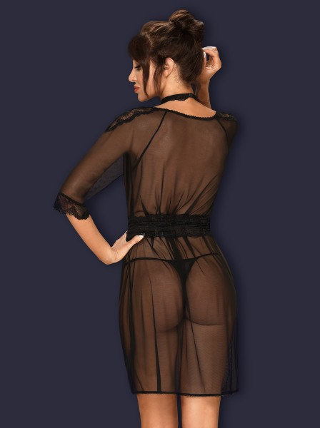 Lucita sexy vestaglia in tulle con collarino Obsessive Lingerie in vendita su Tangamania Online