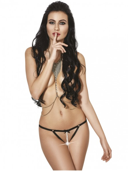 Sexy mutandine aperte con filo di perle centrale LeFrivole in vendita su Tangamania Online